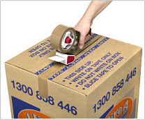 Taping the boxes is quick and stress-free